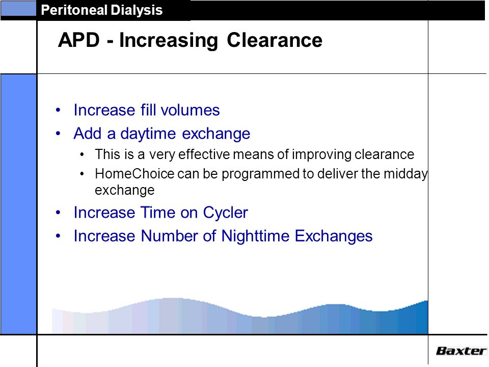 APD - Increasing Clearance