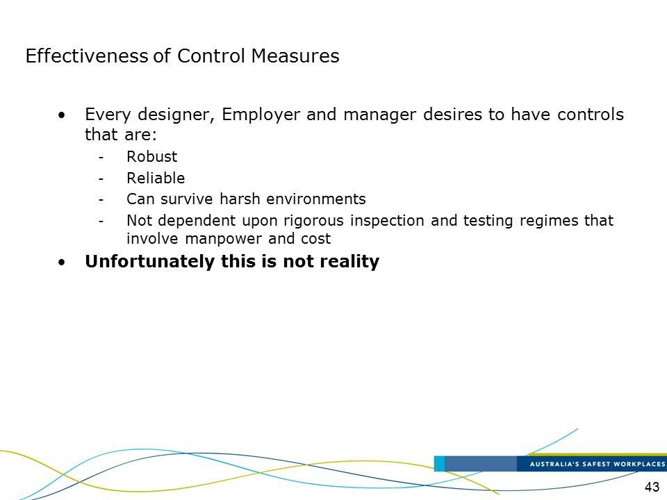 Effectiveness of Control Measures