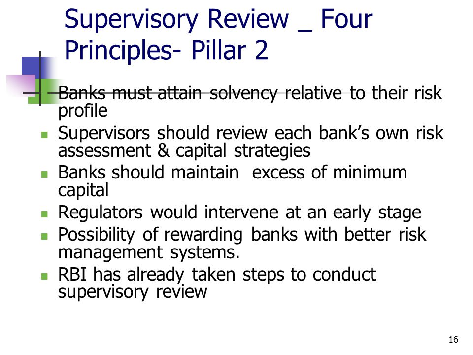 Supervisory Review _ Four Principles- Pillar 2