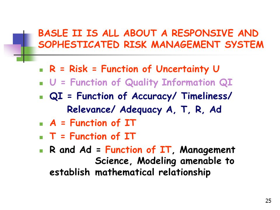 BASLE II IS ALL ABOUT A RESPONSIVE AND SOPHESTICATED RISK MANAGEMENT SYSTEM