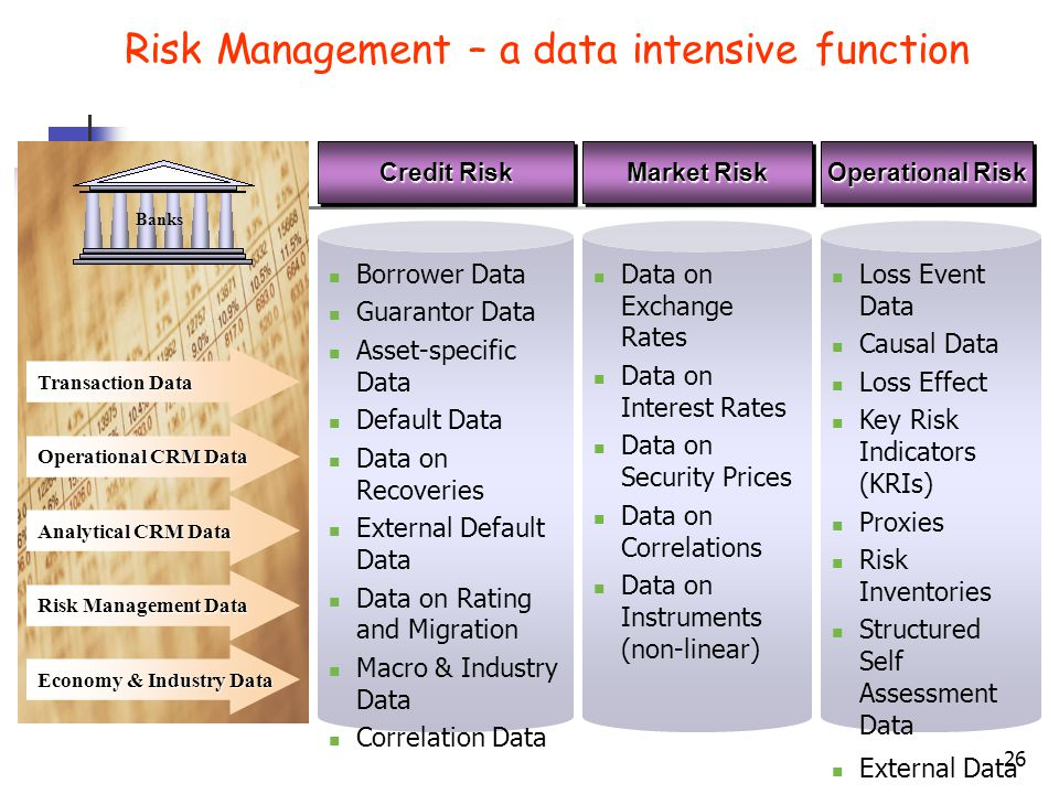 Risk Management – a data intensive function