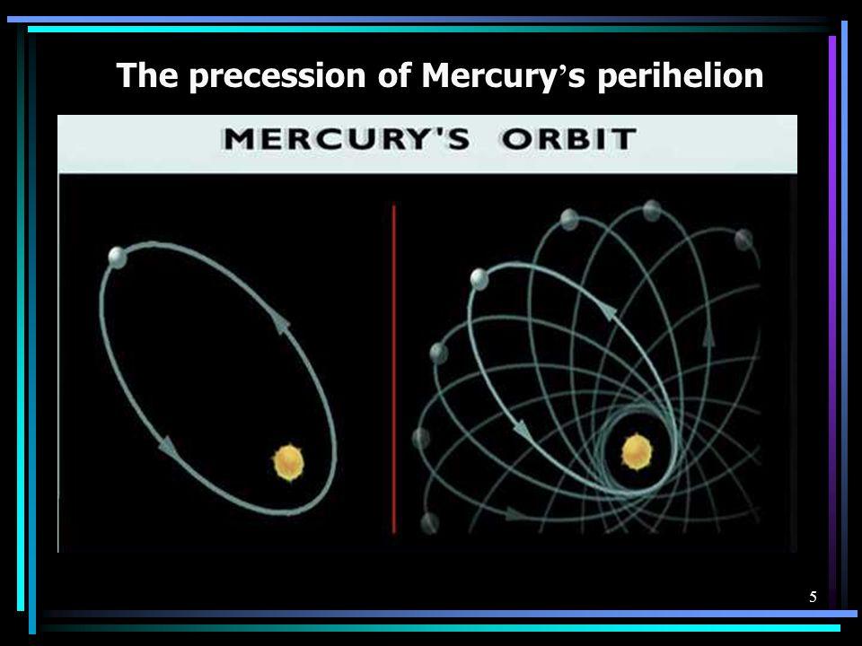 The precession of Mercury's perihelion