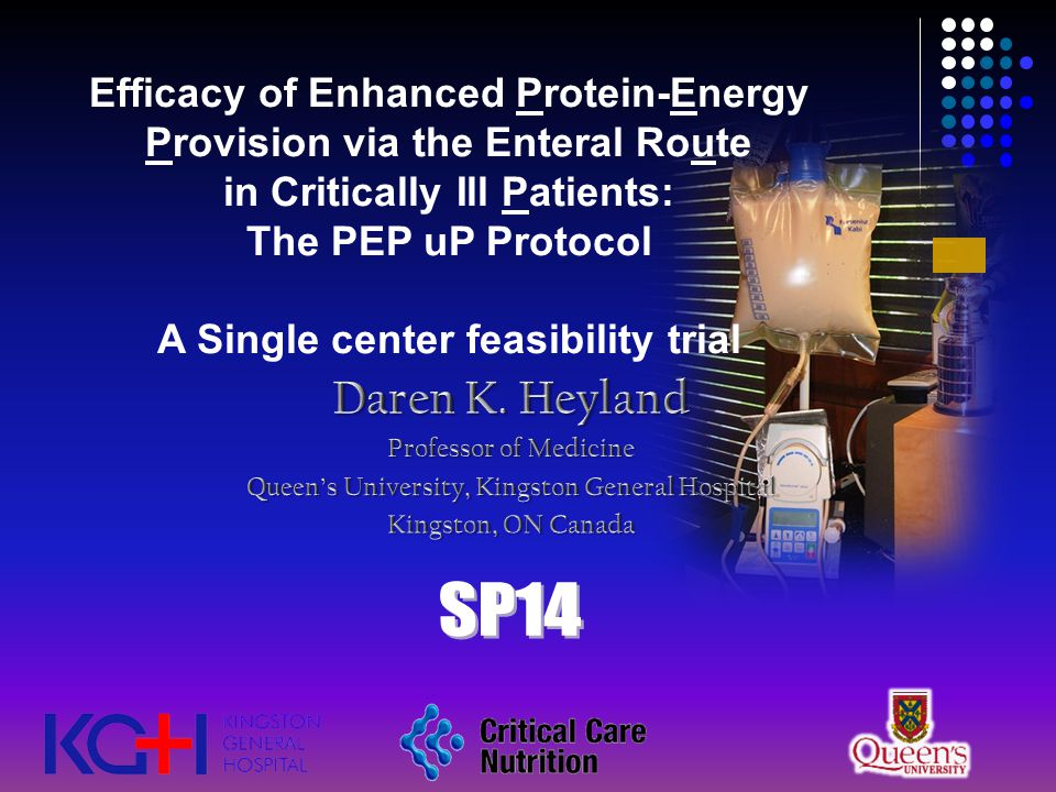 Efficacy of Enhanced Protein-Energy Provision via the Enteral Route