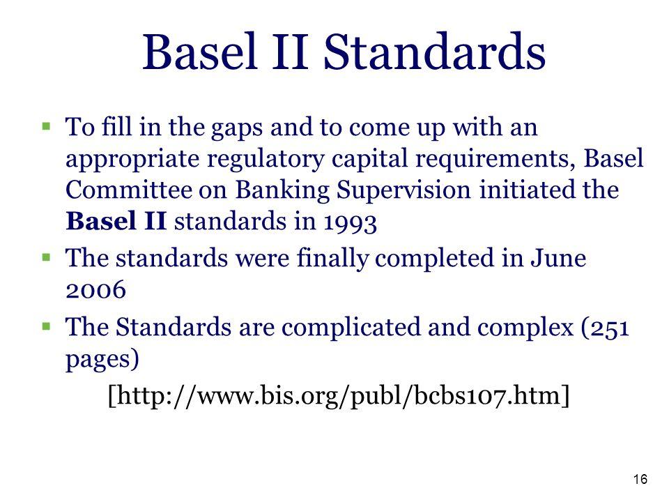 Basel II Standards