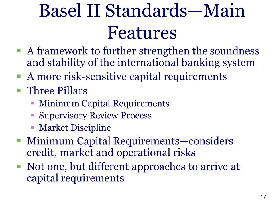 Basel II Standards—Main Features