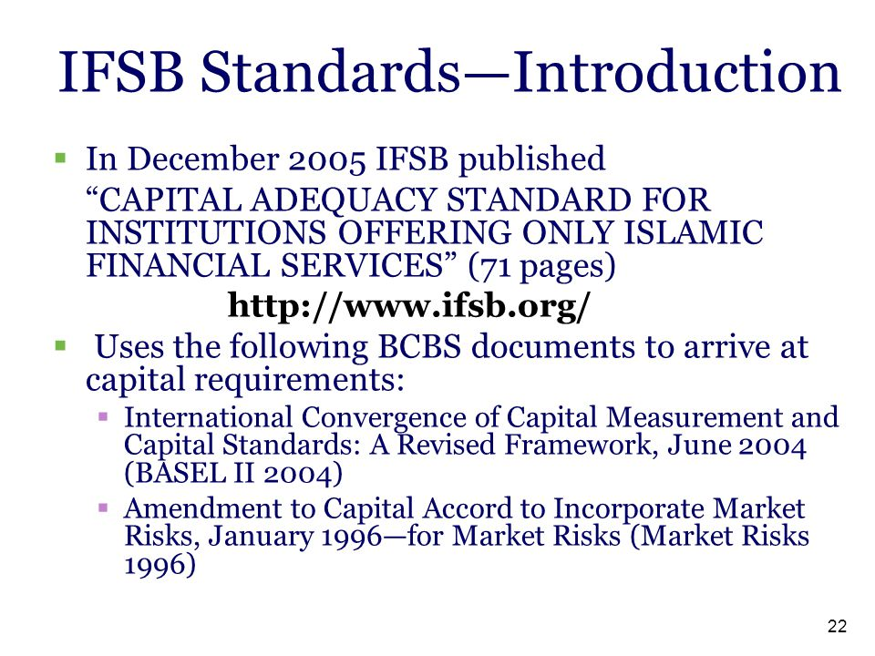 IFSB Standards—Introduction