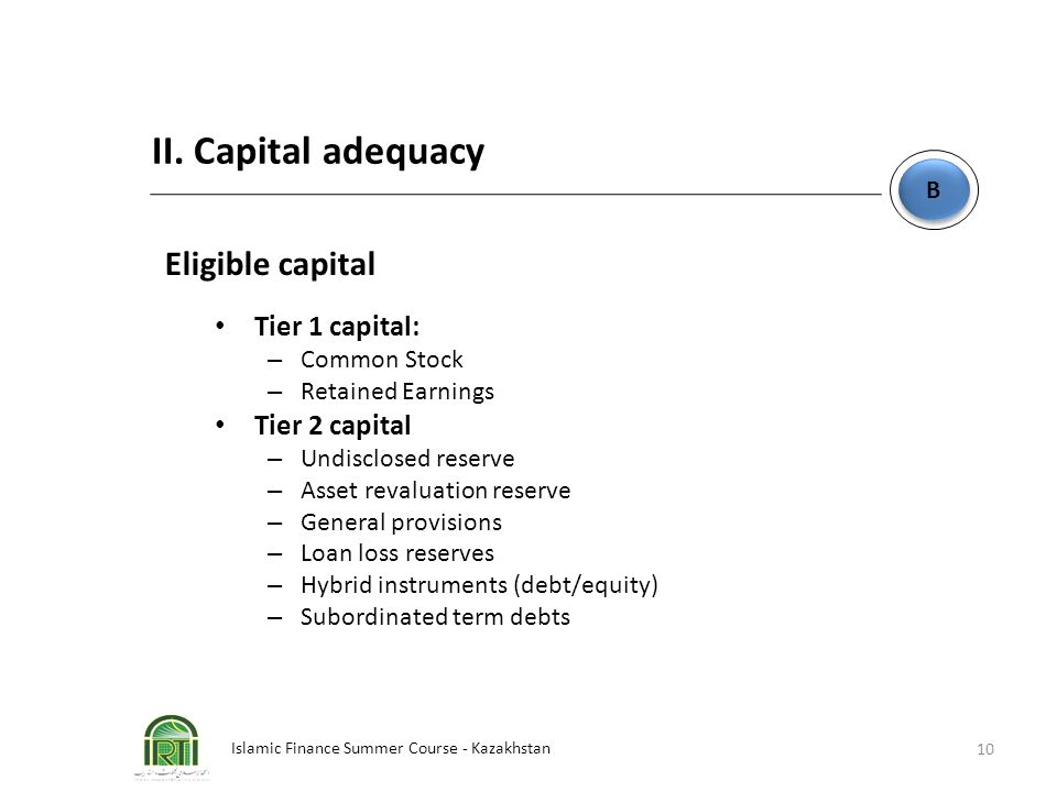 II. Capital adequacy Eligible capital Tier 1 capital: Tier 2 capital B