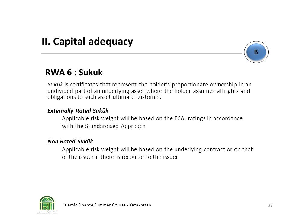 II. Capital adequacy RWA 6 : Sukuk B