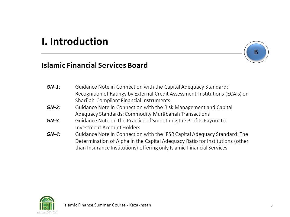 I. Introduction Islamic Financial Services Board B