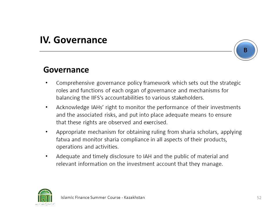 IV. Governance Governance B