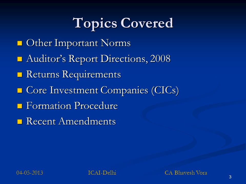 04-05-2013 ICAI-Delhi CA Bhavesh Vora