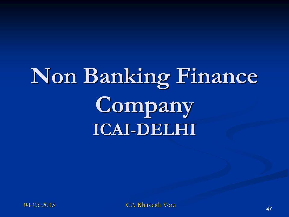 Non Banking Finance Company ICAI-DELHI