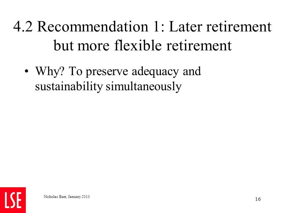 More flexible retirement