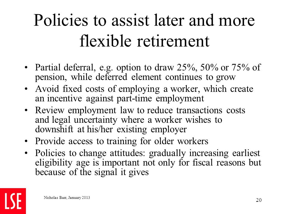 4.3 Recommendation 2: Adjusting for changes in life expectancy