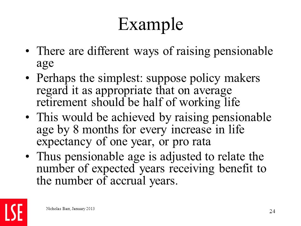 4.4 Recommendation 3: Adjusting for a delayed start to pension