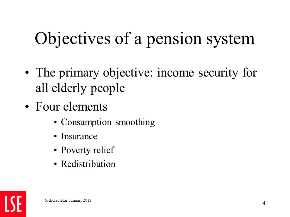 Four and only four solutions to problems of pension finance