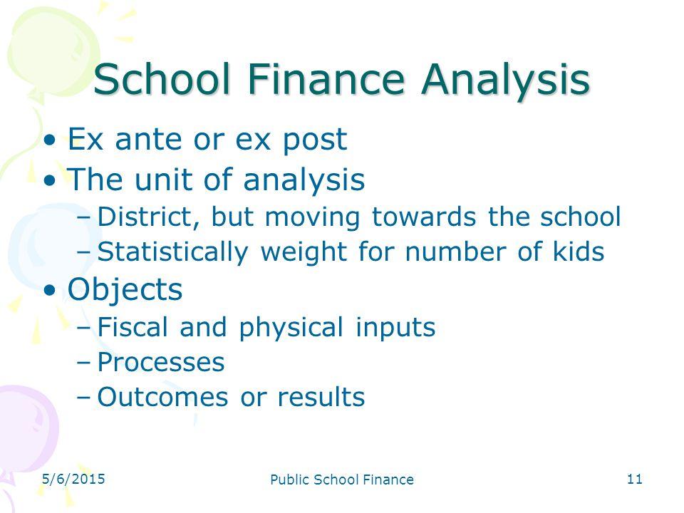 School Finance Analysis