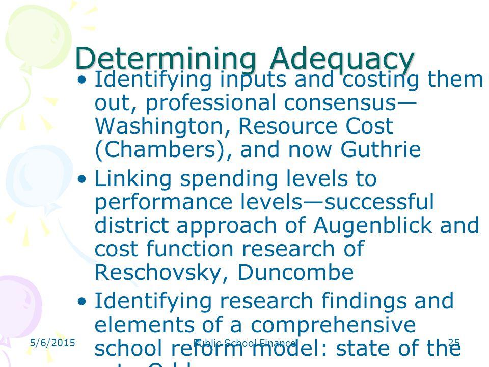 4/14/2017 Determining Adequacy.