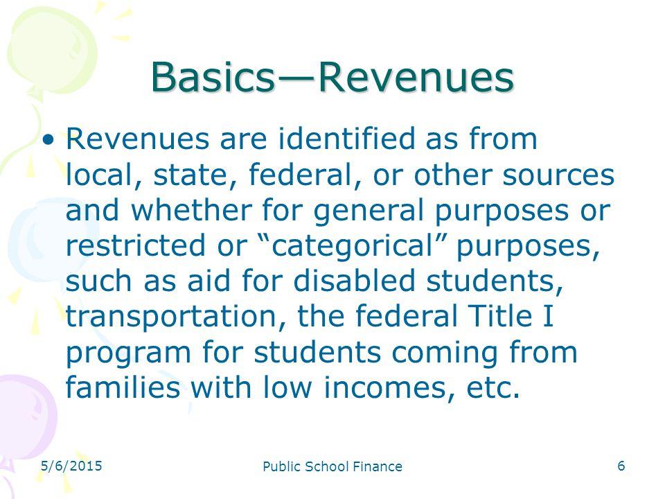 4/14/2017 Basics—Revenues.
