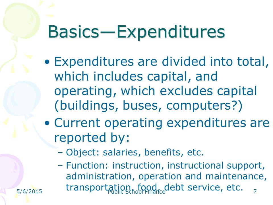 4/14/2017 Basics—Expenditures.