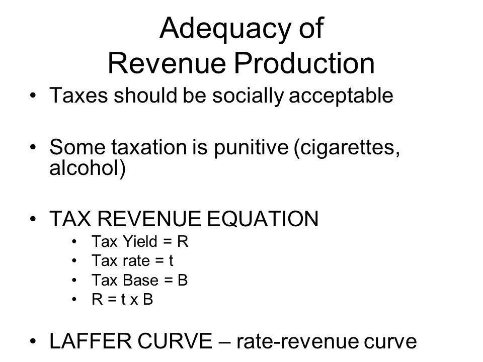 Adequacy of Revenue Production