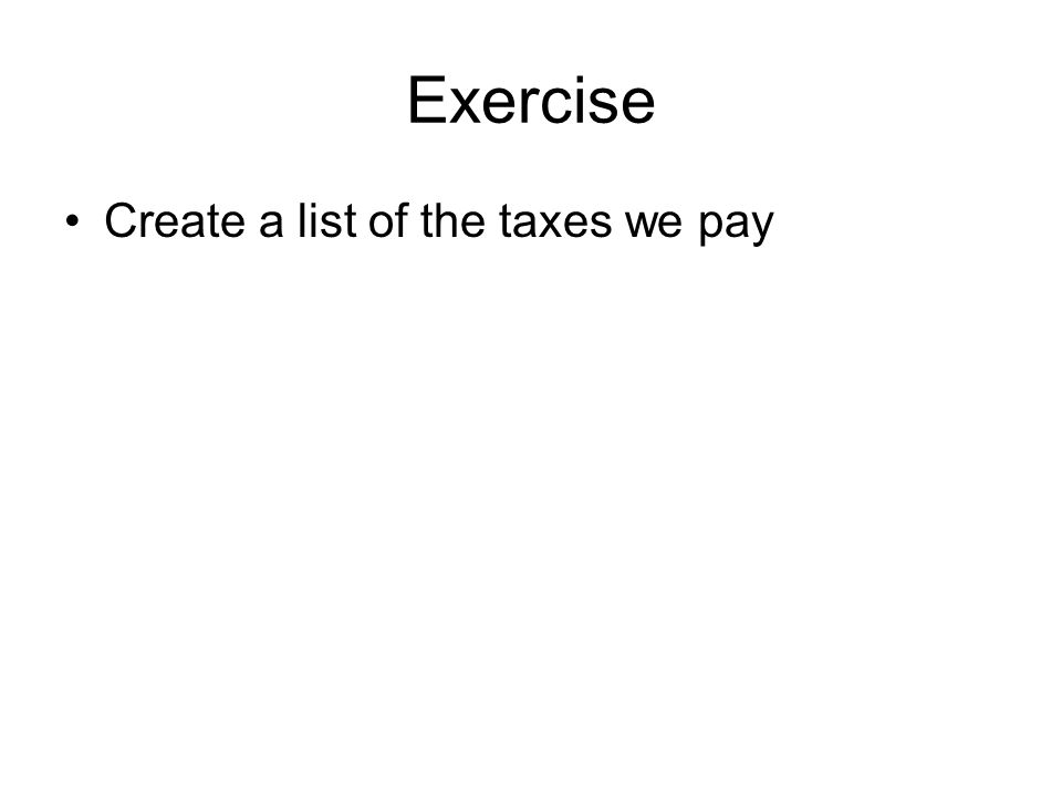 Taxes paid on exercising stock options