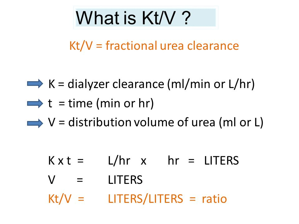 What is Kt/V