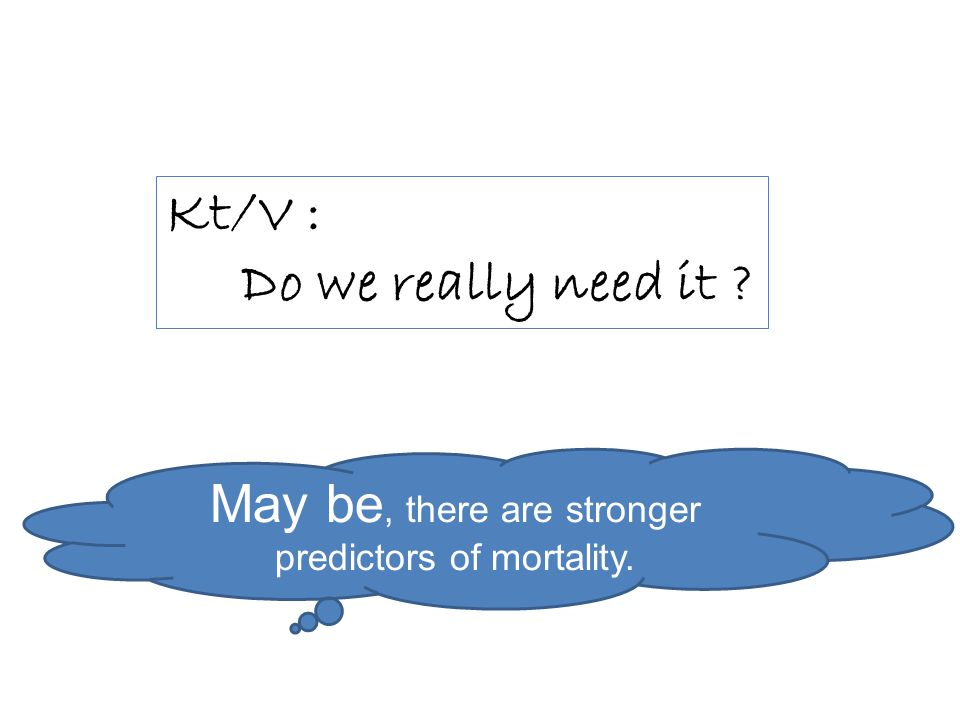 May be, there are stronger predictors of mortality.