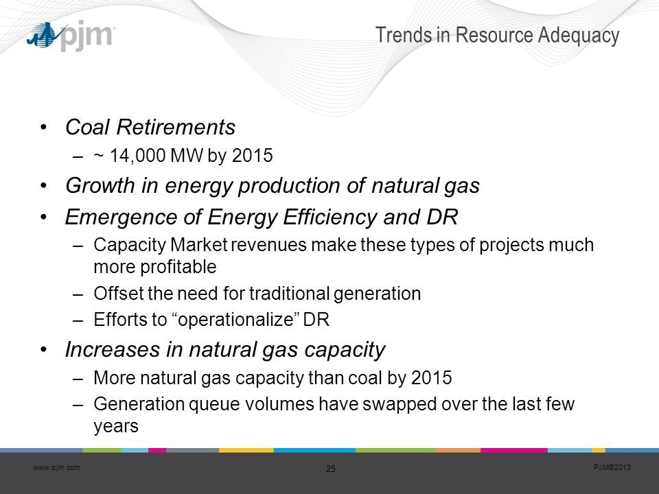 Trends in Resource Adequacy