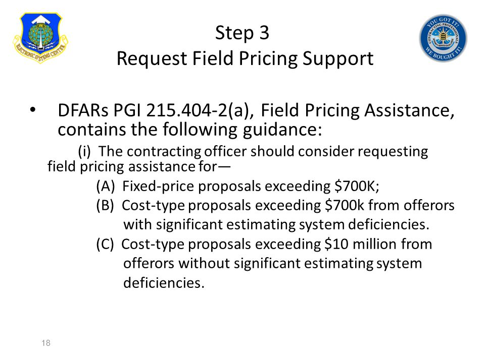 Step 3 Request Field Pricing Support