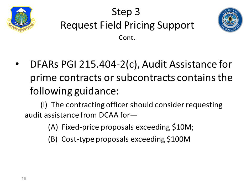 Step 3 Request Field Pricing Support Cont.