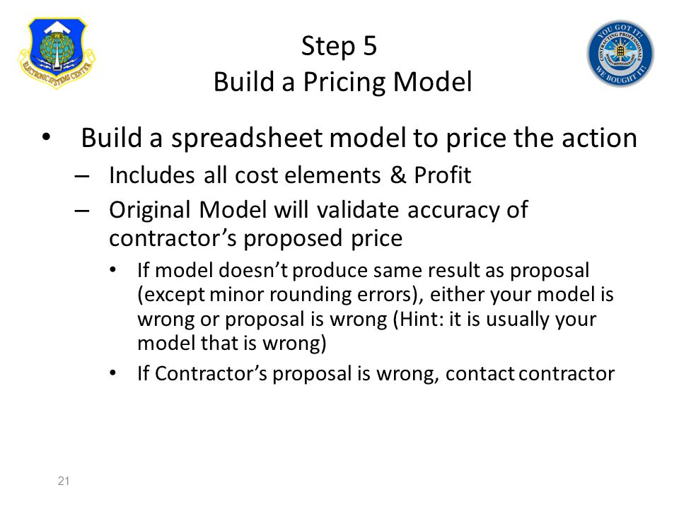 Step 5 Build a Pricing Model