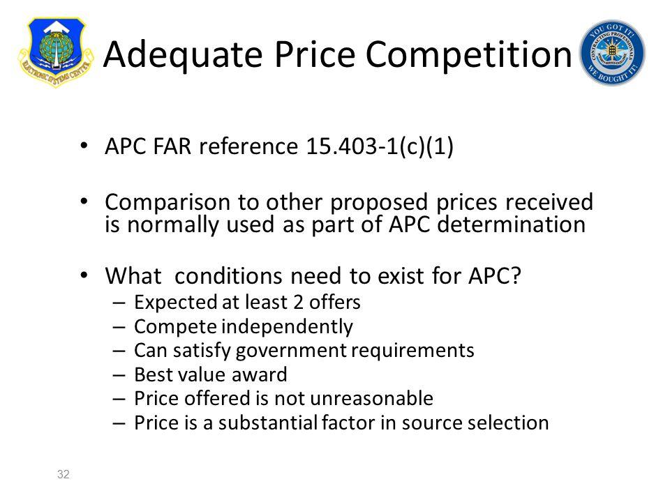 Adequate Price Competition