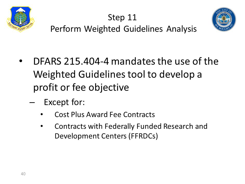 Step 11 Perform Weighted Guidelines Analysis