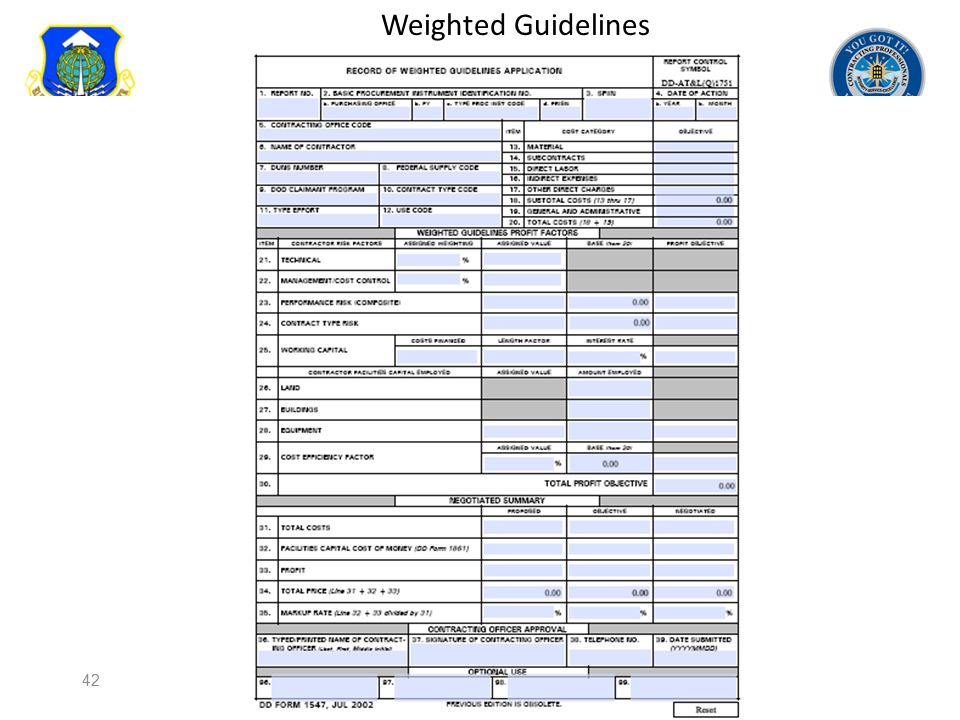 Weighted Guidelines