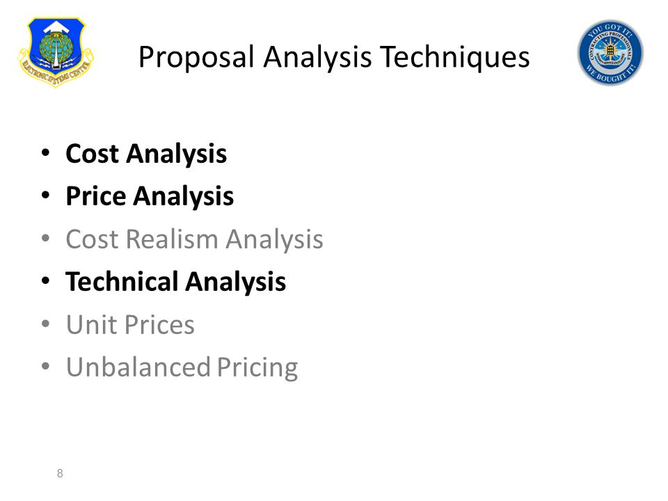 Proposal Analysis Techniques
