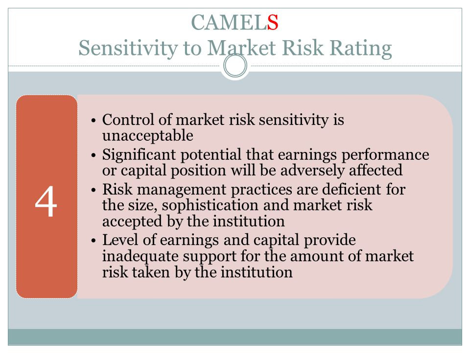 CAMELS Sensitivity to Market Risk Rating