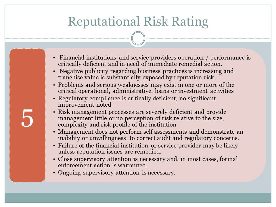 Reputational Risk Rating