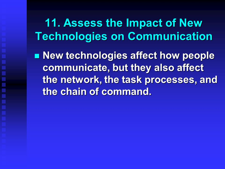 11. Assess the Impact of New Technologies on Communication