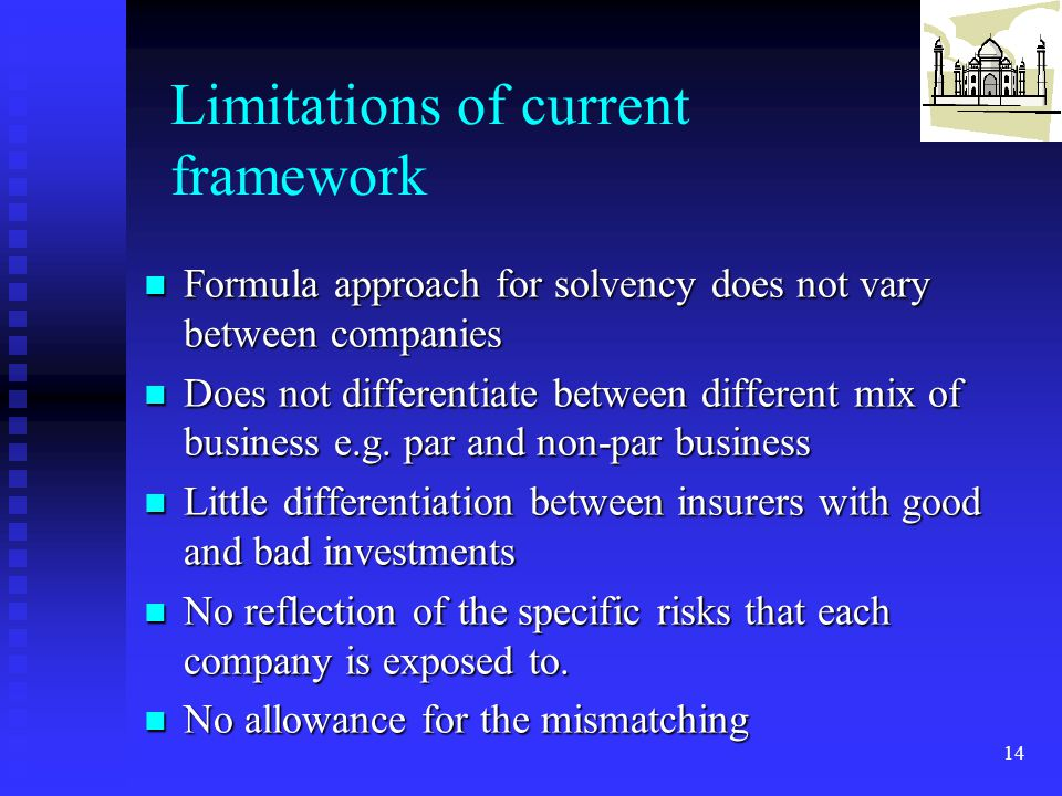 Limitations of current framework