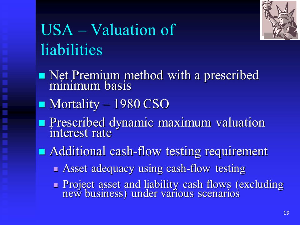 USA – Valuation of liabilities