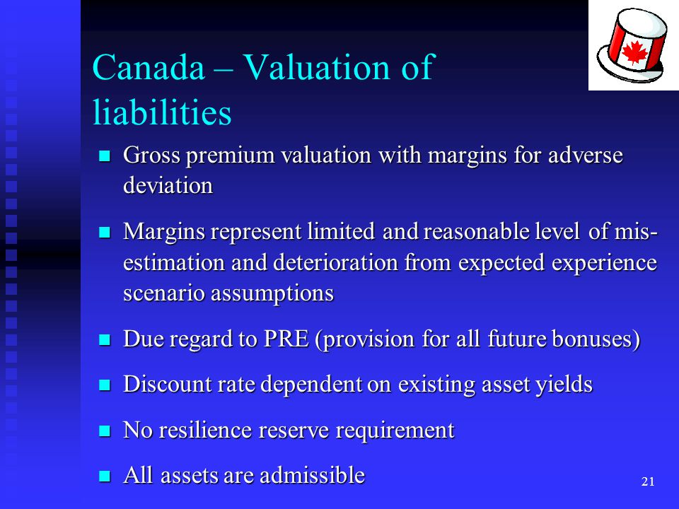Canada – Valuation of liabilities