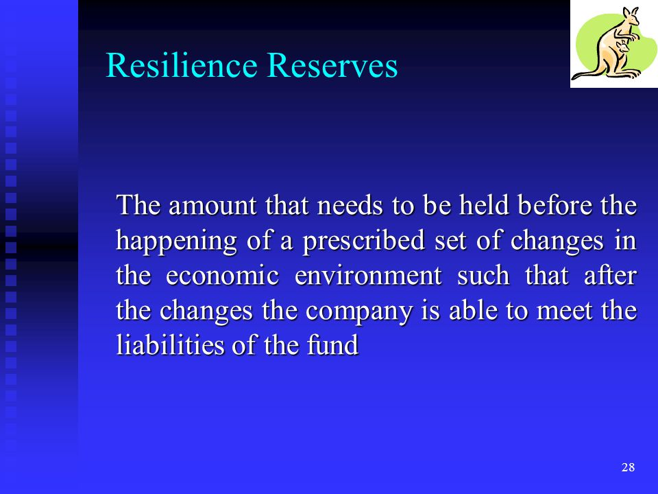 Resilience Reserves