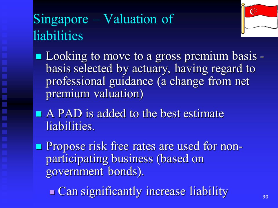 Singapore – Valuation of liabilities
