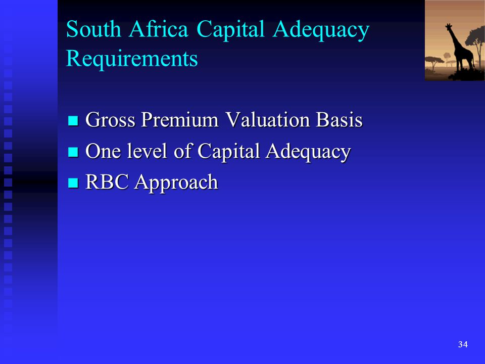 South Africa Capital Adequacy Requirements