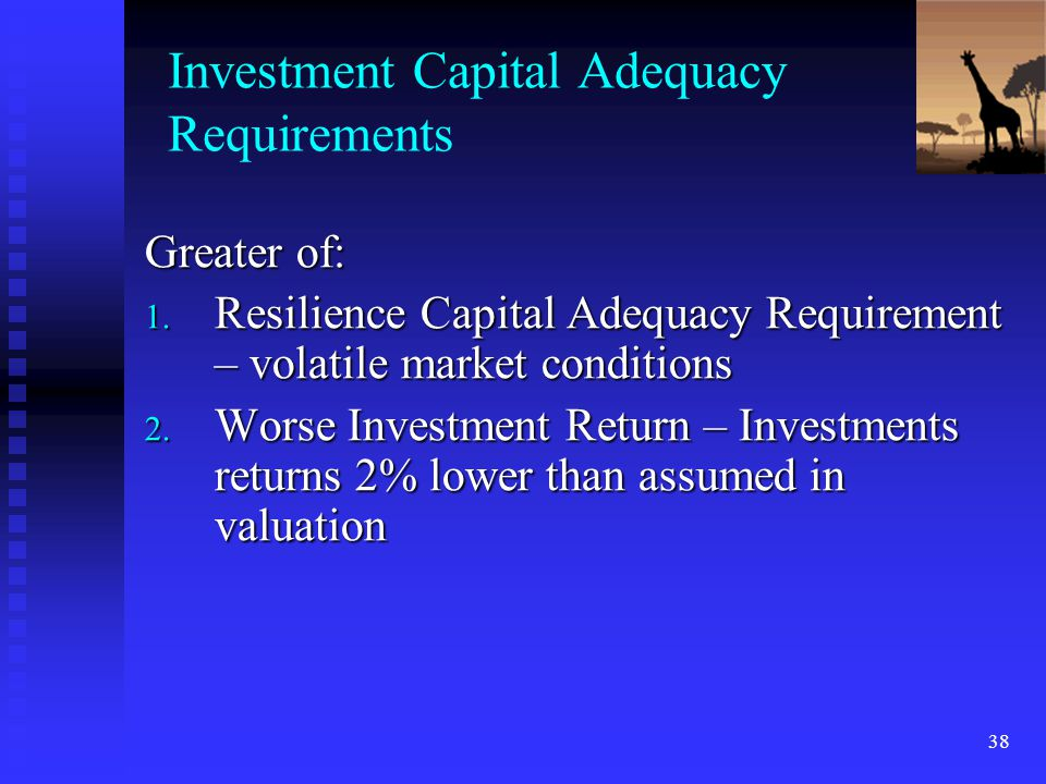 Investment Capital Adequacy Requirements