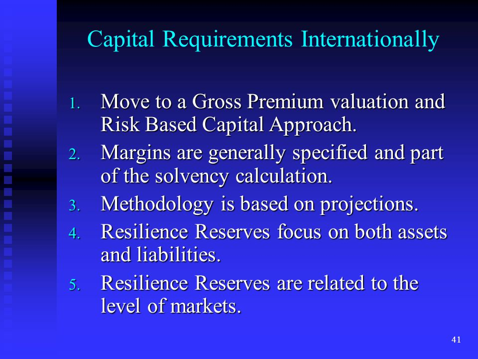 Capital Requirements Internationally