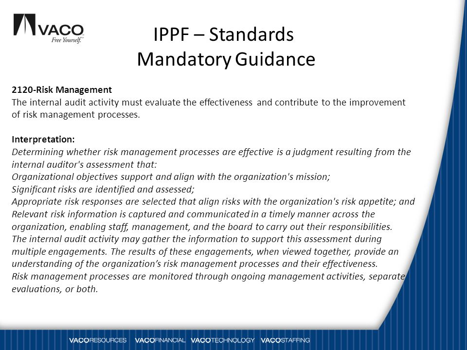 IPPF – Standards Mandatory Guidance