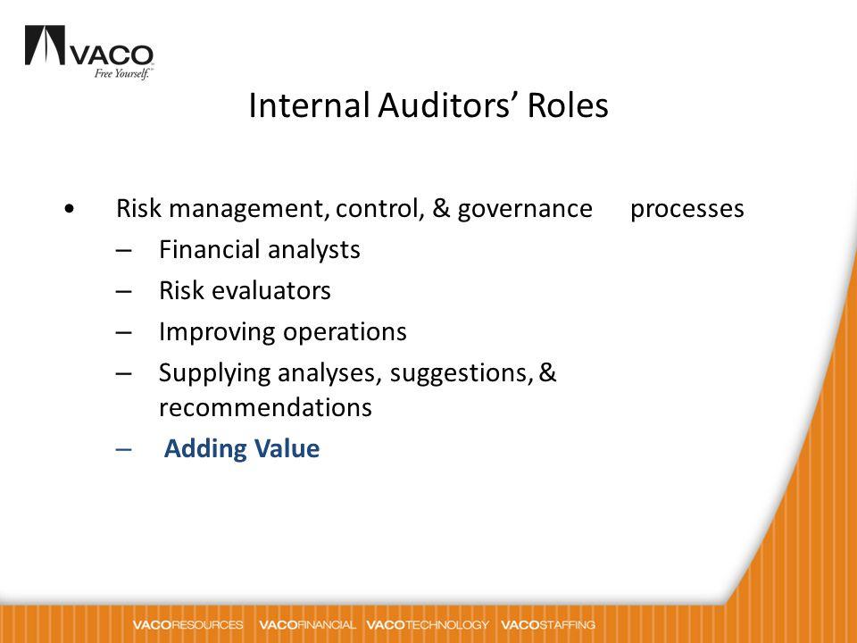 Internal Auditors' Roles