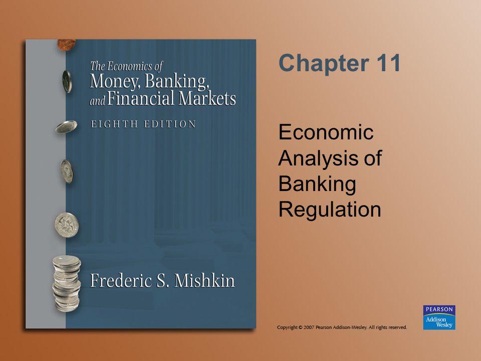 Economic Analysis of Banking Regulation